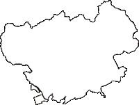 愛知県豊川市(とよかわし)の白地図無料ダウンロード