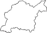 愛知県豊田市(とよたし)の白地図無料ダウンロード