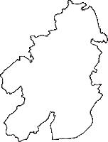 愛知県安城市(あんじょうし)の白地図無料ダウンロード