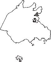 愛知県西尾市(にしおし)の白地図無料ダウンロード