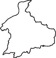 愛知県犬山市(いぬやまし)の白地図無料ダウンロード