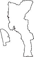 愛知県常滑市(とこなめし)の白地図無料ダウンロード