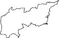 愛知県小牧市(こまきし)の白地図無料ダウンロード