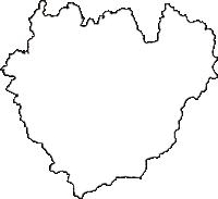 愛知県新城市(しんしろし)の白地図無料ダウンロード