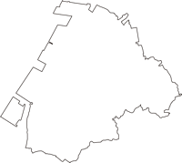 愛知県知多市(ちたし)の白地図無料ダウンロード