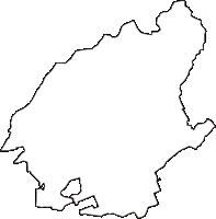 愛知県尾張旭市(おわりあさひし)の白地図無料ダウンロード