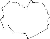 愛知県北名古屋市(きたなごやし)の白地図無料ダウンロード