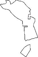 愛知県海部郡飛島村(とびしまむら)の白地図無料ダウンロード