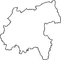 愛知県北設楽郡設楽町(したらちょう)の白地図無料ダウンロード