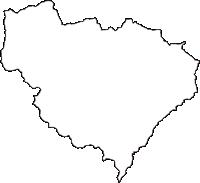 愛知県北設楽郡東栄町(とうえいちょう)の白地図無料ダウンロード