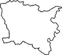愛知県北設楽郡豊根村(とよねむら)の白地図無料ダウンロード