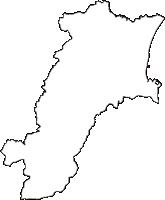 三重県津市(つし)の白地図無料ダウンロード