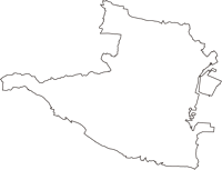 三重県四日市市(よっかいちし)の白地図無料ダウンロード