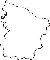 三重県伊勢市(いせし)の白地図無料ダウンロード