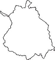 三重県名張市(なばりし)の白地図無料ダウンロード