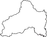 三重県亀山市(かめやまし)の白地図無料ダウンロード