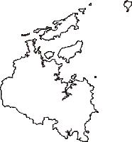 三重県鳥羽市(とばし)の白地図無料ダウンロード
