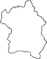三重県いなべ市(いなべし)の白地図無料ダウンロード
