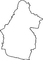 三重県員弁郡東員町(とういんちょう)の白地図無料ダウンロード