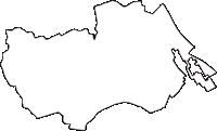 三重県三重郡朝日町(あさひちょう)の白地図無料ダウンロード