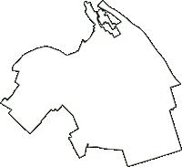 三重県三重郡川越町(かわごえちょう)の白地図無料ダウンロード