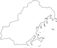 三重県北牟婁郡紀北町(きほくちょう)の白地図無料ダウンロード
