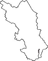 滋賀県栗東市(りっとうし)の白地図無料ダウンロード
