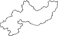 滋賀県甲賀市(こうかし)の白地図無料ダウンロード