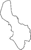 滋賀県野洲市(やすし)の白地図無料ダウンロード