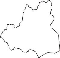 滋賀県高島市(たかしまし)の白地図無料ダウンロード