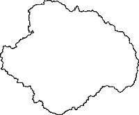 滋賀県蒲生郡日野町(ひのちょう)の白地図無料ダウンロード