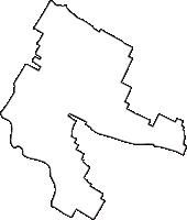 滋賀県犬上郡豊郷町(とよさとちょう)の白地図無料ダウンロード