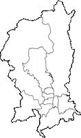 京都府京都市京都市(きょうとし)の白地図無料ダウンロード