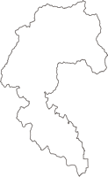 京都府京都市右京区(うきょうく)の白地図無料ダウンロード