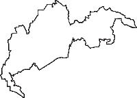 京都府京都市伏見区(ふしみく)の白地図無料ダウンロード