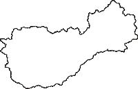 京都府綾部市(あやべし)の白地図無料ダウンロード