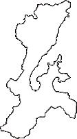 京都府宮津市(みやづし)の白地図無料ダウンロード