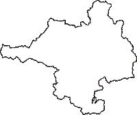 京都府亀岡市(かめおかし)の白地図無料ダウンロード