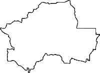 京都府長岡京市(ながおかきょうし)の白地図無料ダウンロード