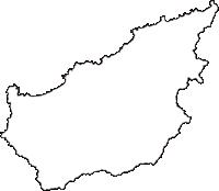 京都府京丹後市(きょうたんごし)の白地図無料ダウンロード