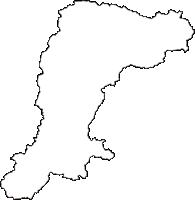 京都府南丹市(なんたんし)の白地図無料ダウンロード