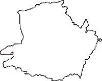 京都府木津川市(きづがわし)の白地図無料ダウンロード