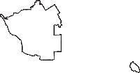 京都府久世郡久御山町(くみやまちょう)の白地図無料ダウンロード