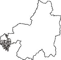 京都府相楽郡笠置町(かさぎちょう)の白地図無料ダウンロード