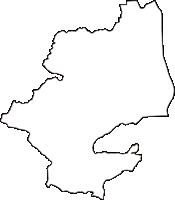 京都府相楽郡精華町(せいかちょう)の白地図無料ダウンロード