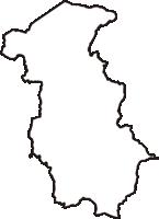 京都府相楽郡南山城村(みなみやましろむら)の白地図無料ダウンロード