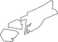 大阪府大阪市此花区(このはなく)の白地図無料ダウンロード