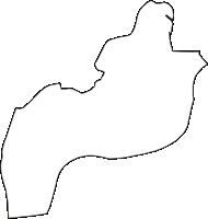 大阪府大阪市東淀川区(ひがしよどがわく)の白地図無料ダウンロード