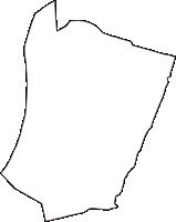 大阪府大阪市西成区(にしなりく)の白地図無料ダウンロード