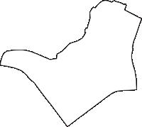 大阪府大阪市淀川区(よどがわく)の白地図無料ダウンロード